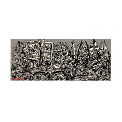 Adesio II - Gravure originale de Antonio Saura