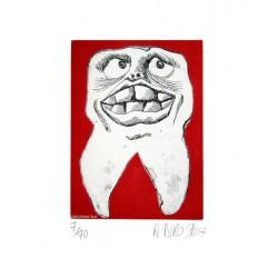 Dent N°13 - Gravure de Hervé Dirosa