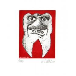 Dent N°9 - Gravure de Hervé Dirosa