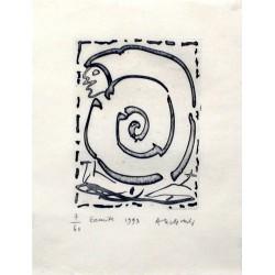 Ermite - Gravure de Pierre Alechinsky